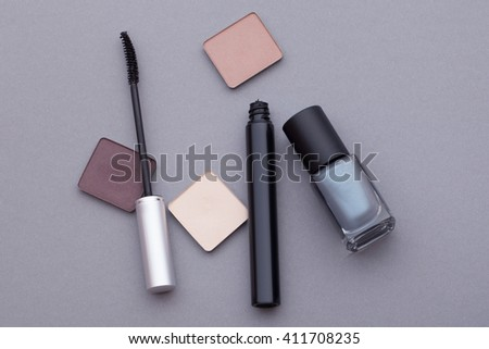 Different cosmetics.