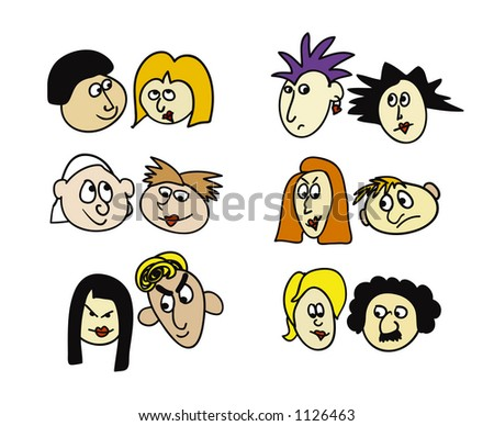 Different couples - stock photo