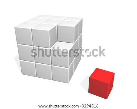 different element - stock photo
