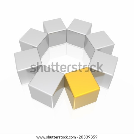 different element (gold and silver series) - stock photo