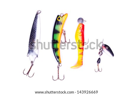 Different fishing baits - stock photo