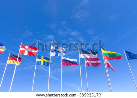 different, flags