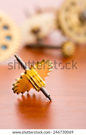 Different gears - stock photo