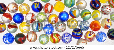 different glass balls - stock photo