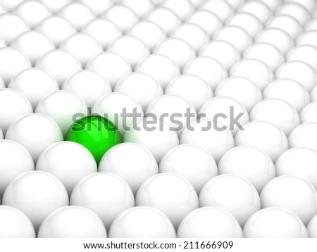 Different green ball - stock photo