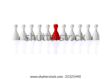 Different in the line - stock photo
