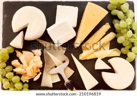 different kinds of cheese - stock photo