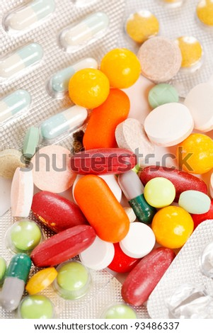 different kinds of pills
