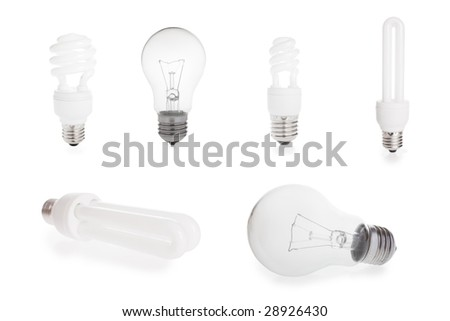 different light bulbs - stock photo