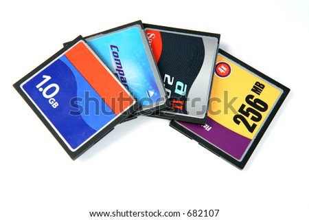 Different makes of CF1-type CompactFlash cards