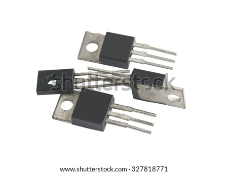 different microcircuit on a white background