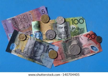 different money from Australia - stock photo