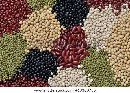 Different multicolor dried legumes for healthy