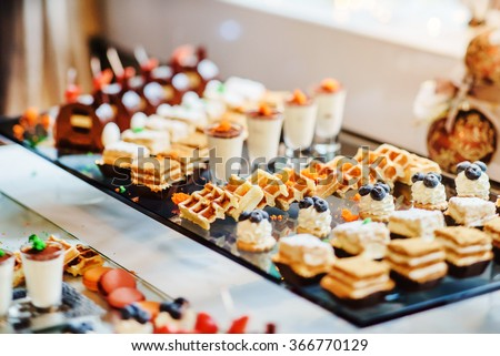 different pastries - stock photo