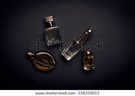 different perfume bottles - stock photo