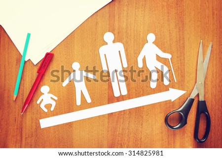 Different phases of human life. Abstract conceptual image - stock photo