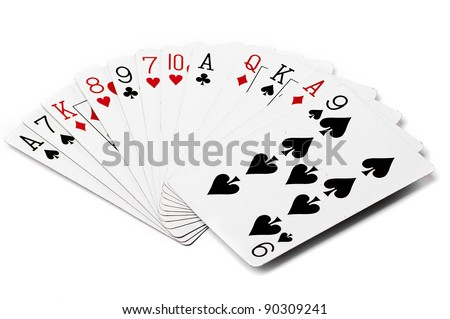 different playing cards - stock photo