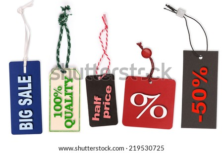 Different price labels with text - stock photo