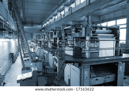 Different printed machines and poly-graphic equipment
