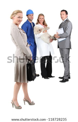 Different professions - stock photo