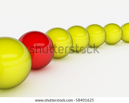 Different red ball - stock photo