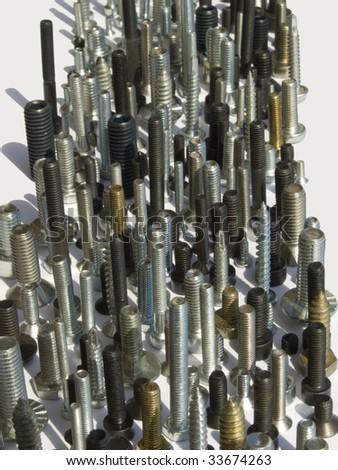 different screws - stock photo