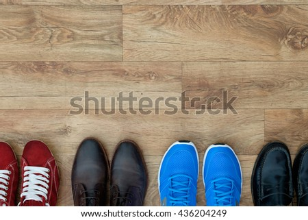 Different shoes collection  - stock photo