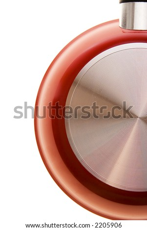 Different shot of a frying pan, isolated on white background - stock photo