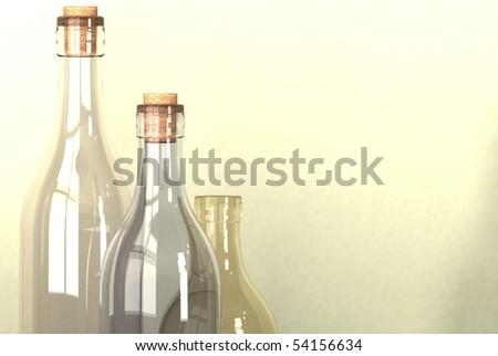 different sized alcohol bottles