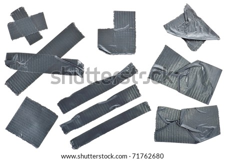 Different slices of insulating tape. Photo - stock photo