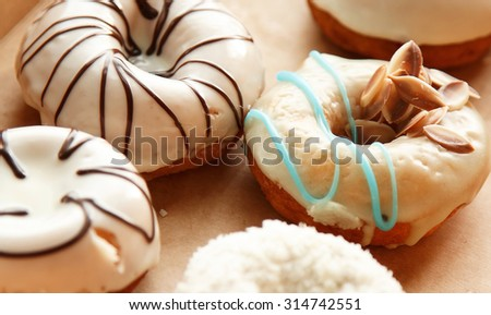 Different sweet donuts - stock photo