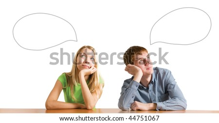 different thinking - stock photo