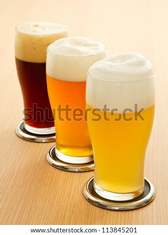 different type of beer - stock photo
