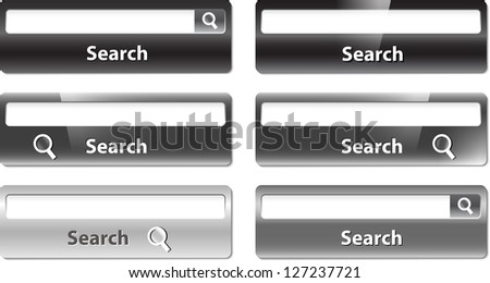 Different types of search bar design - stock photo