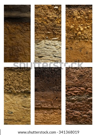 Soil stock photos royalty free images vectors for Pictures of different types of soil with their names