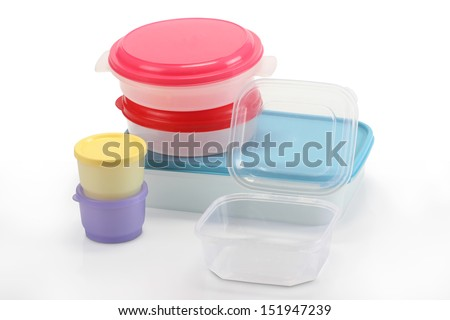 different types of tupperware - stock photo