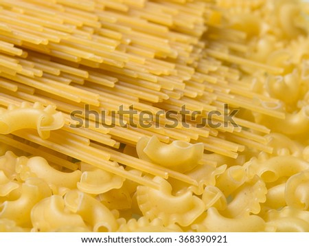 different varieties of pasta