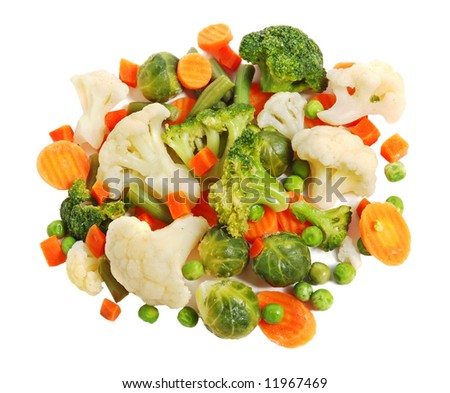 Different vegetables, healthy breakfast. - stock photo