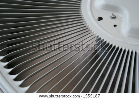 Different view of an air conditioner fan - stock photo