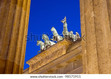 Different view of Berlins Brandenburger Tor - stock photo