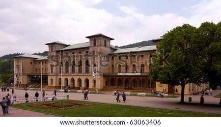 different view of Krynica - Poland - spa house - stock photo