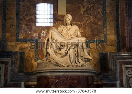 different view of vatican city - stock photo