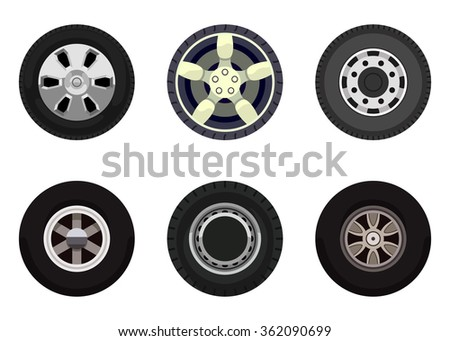 Different wheels on land transport