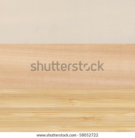 Different wood samples. Closeup of fine smooth surface. - stock photo