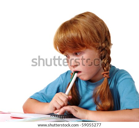 Difficult problems - stock photo