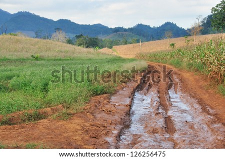 Difficult road and way - stock photo