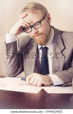 Difficulties at work - stock photo