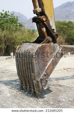 Digger excavator bucket bulldozer  - stock photo