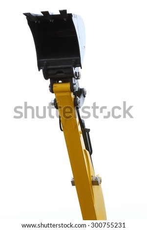 Digger excavator bucket bulldozer shovel industrial detail isolated on white background - stock photo