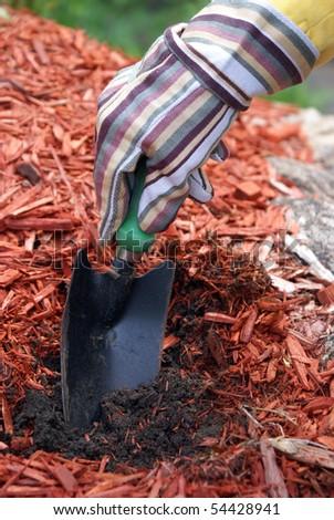 Digging Soil - stock photo
